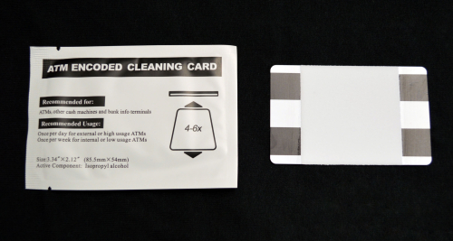 ATM ENCODED CLEANING CARD